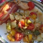 Fyldte kyllingefileter med ovnbage grøntsager