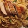 Kylling med linguini, frisk asparges, champignon & soltørret tomat