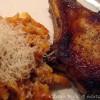 Skaft kotelet med pasta og tomatsovs