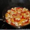 Ovnbagt æggekage med grøntsager.