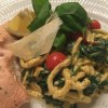 LCHF pasta med spinat og laks