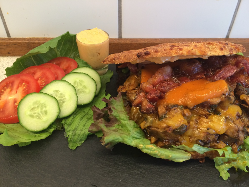 Philley cheese pork burger