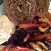 Bacon explosion med rodfrugtfritter