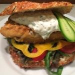 Fiskeburger med tartarsauce