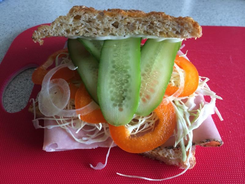 Sandwich med skinke